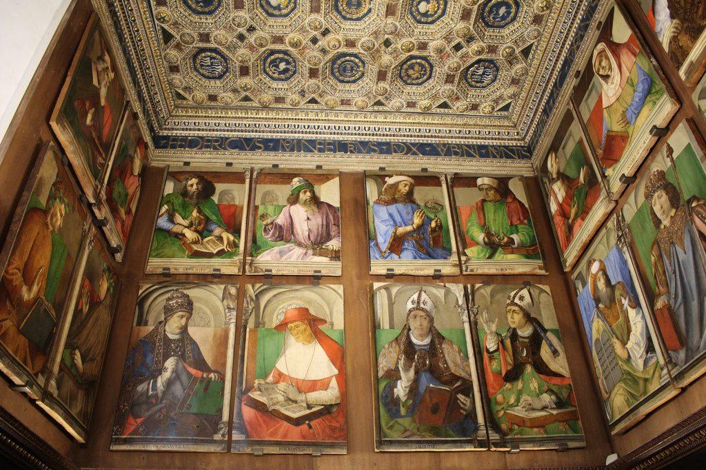 Beeindruckende, alte Kunst Im Palast von Urbino