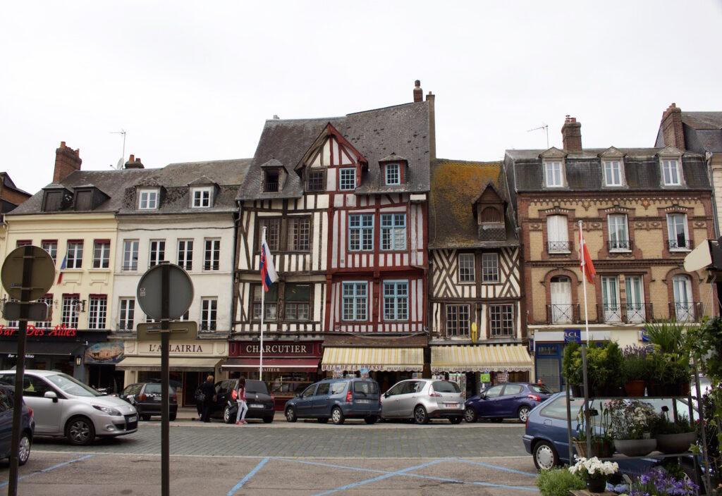 Frankreich Normandie Pont-Audemer, eine Stadt mit Historie und Gemütlichkeit