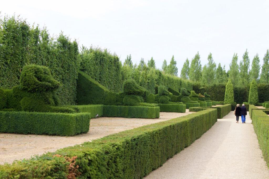 Einer der schönsten Gärten Frankreichs befindet sich beim Chateau du Champs Urlaub Normandie Frankreich