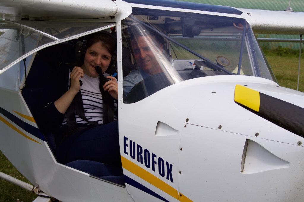 Pascal Chedeville im Landeanflug Normandie mit dem flugzeug entdecken Normandie Frankreich