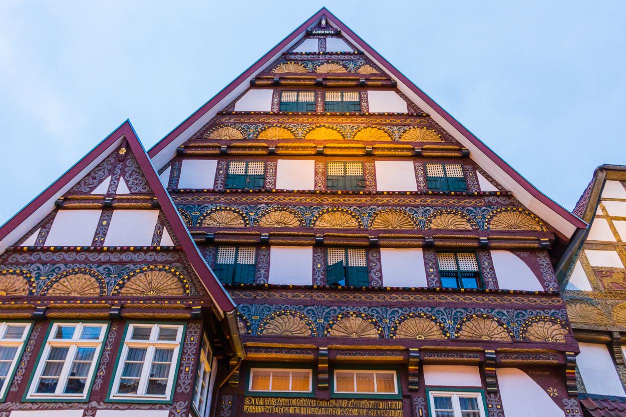 Schöne Fachwerkhäuser in der Innenstadt von Bad Salzuflen