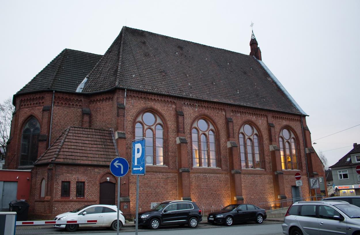 Von außen zunächst nicht ungewöhnlich: Das Restaurant Glück und Seligkeit in Bielefeld