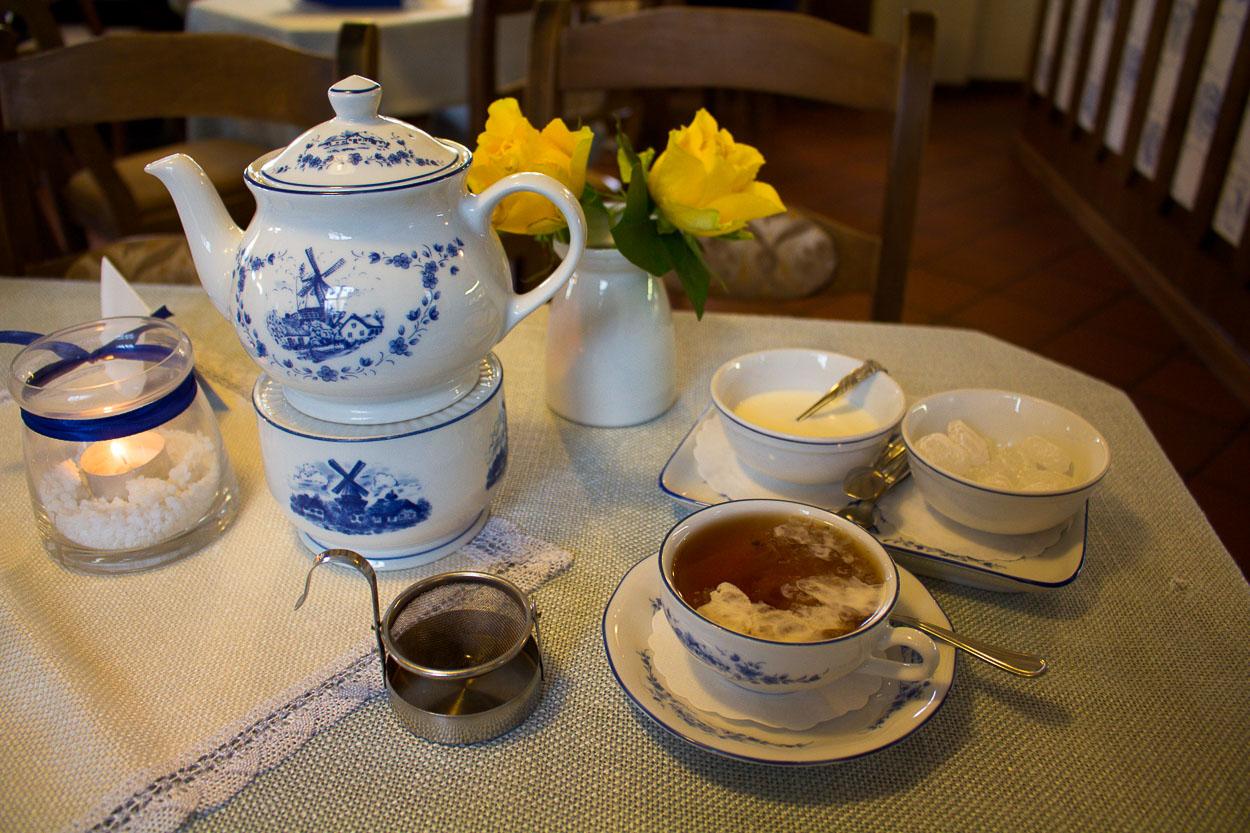 In der Schoofs Mühle gibt es sogar ein eigenes Teeservice.