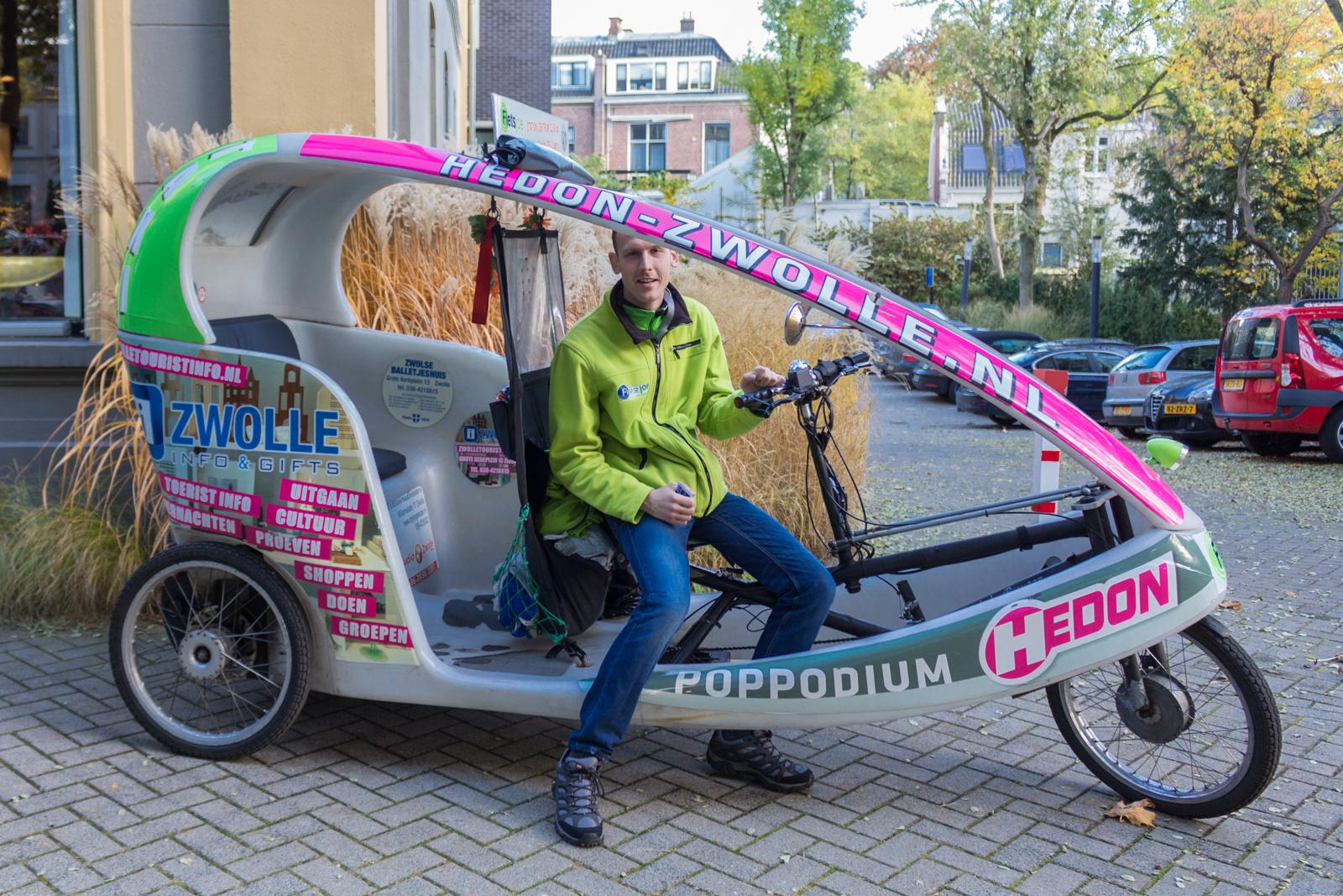 Zwolle, Taxi, Fahrradtaxi, Genießertour, Hansestadt, Holland