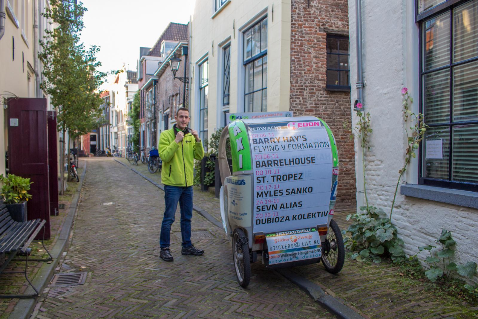 Fahrradtaxi, Altstadt, Zwolle, Taxi, Fahrradtaxi, Genießertour, Hansestadt, Holland