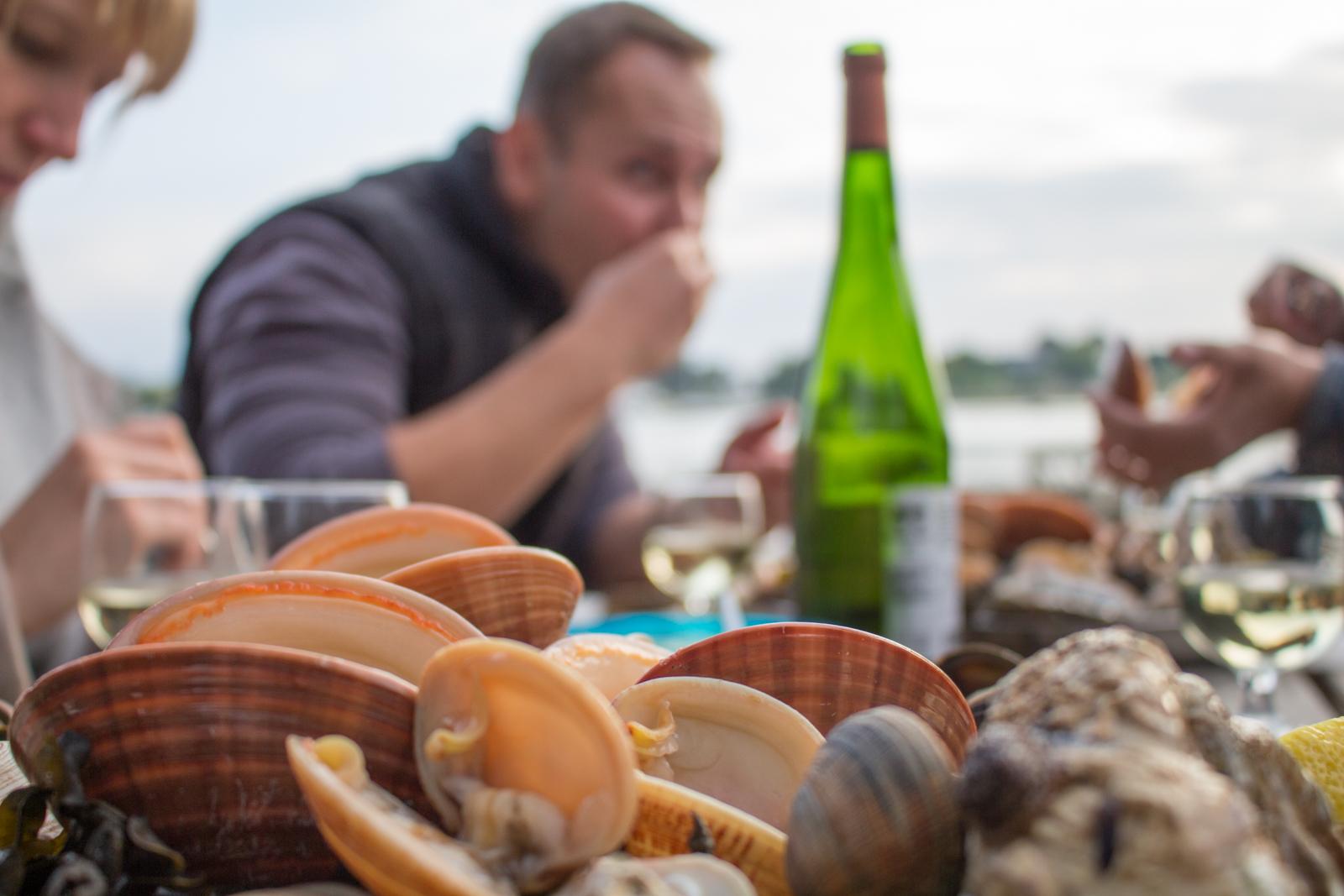 Austernzucht, Bretagne, Muscheln, Kulinarik