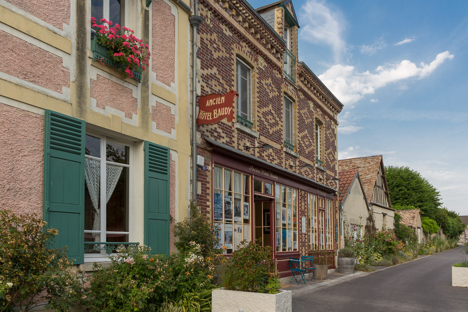 Normandie, Eure, Giverny, Claude Monet, Hotel Restaurant Baudy