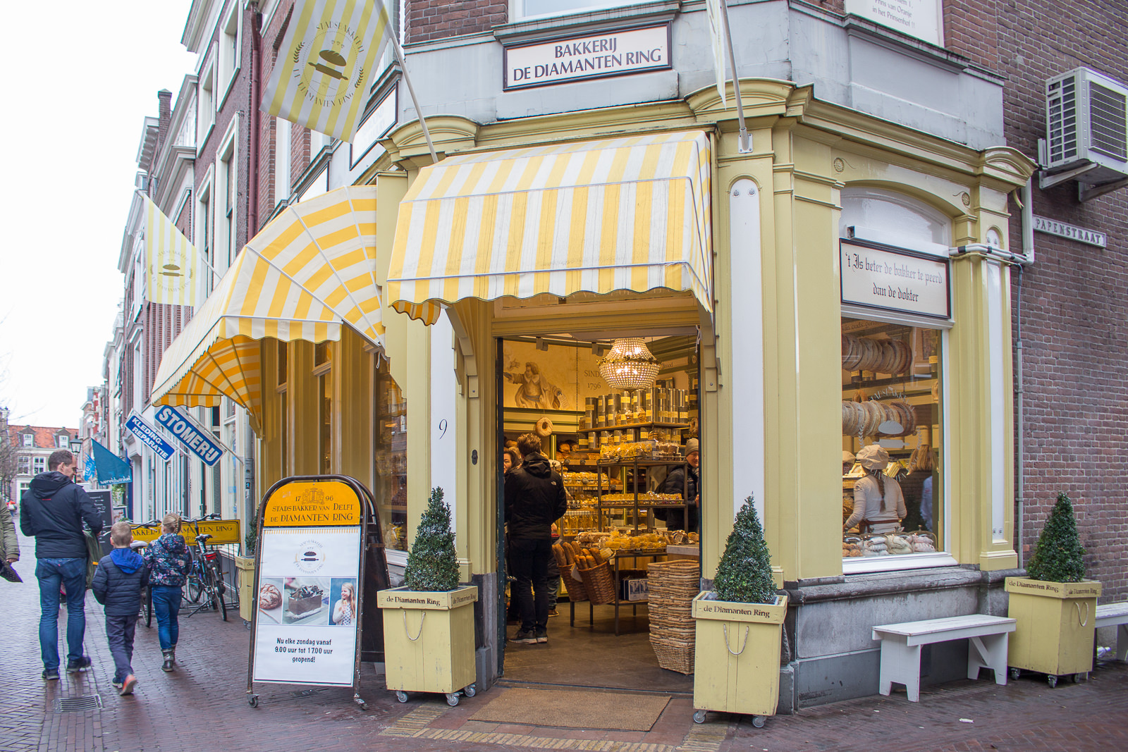 delft, südholland, holland, niederlande, städtetrip, sightseeing, bäckerei