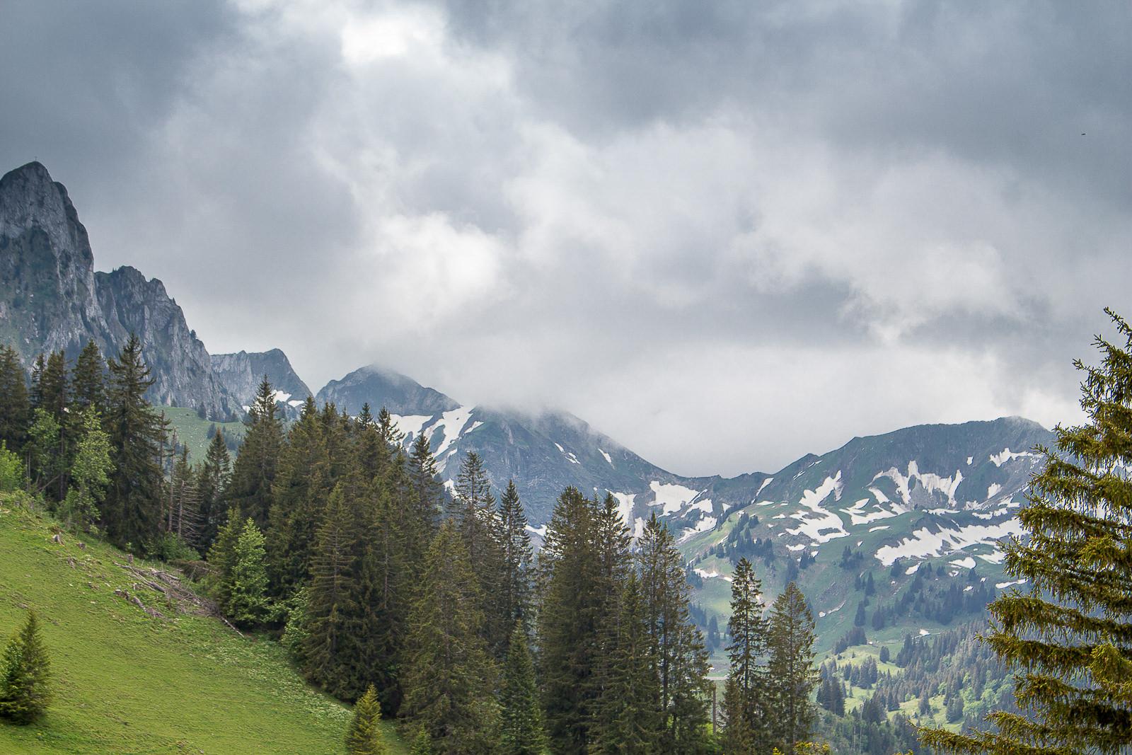 Schwarzsee, Region Freiburg, Kanton Fribourg, Riggisalp, Fondue