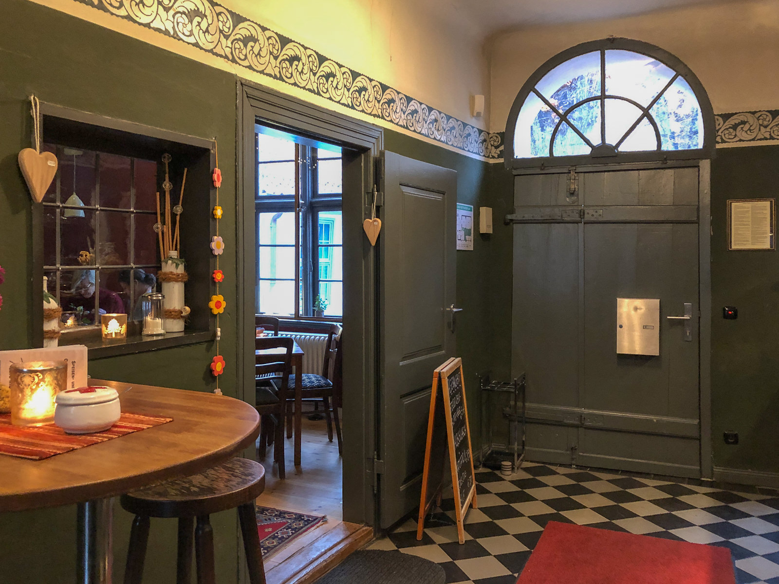 rostock, café, cafe, restaurant, herbst