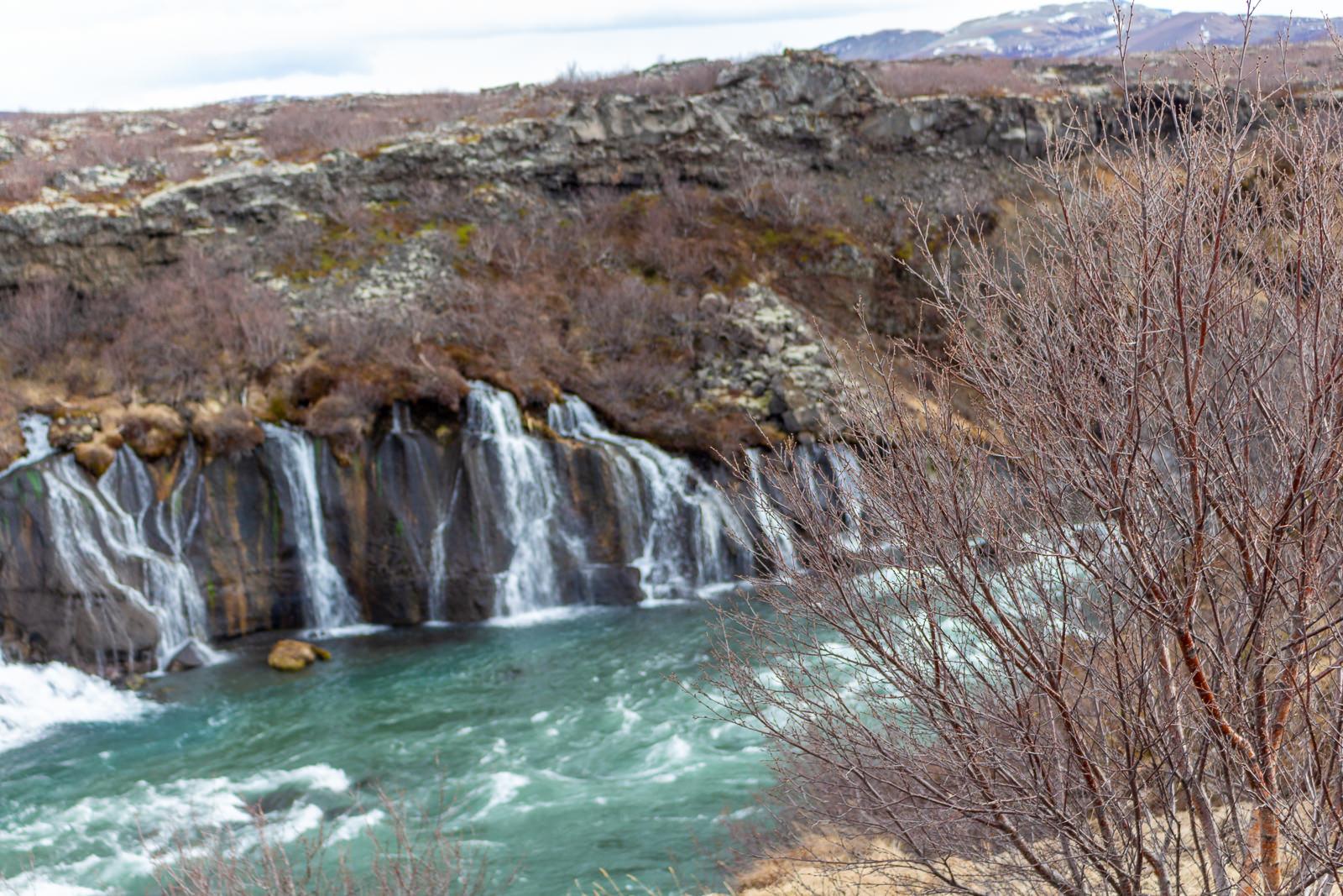Island, Hraunfossar und Barnafoss