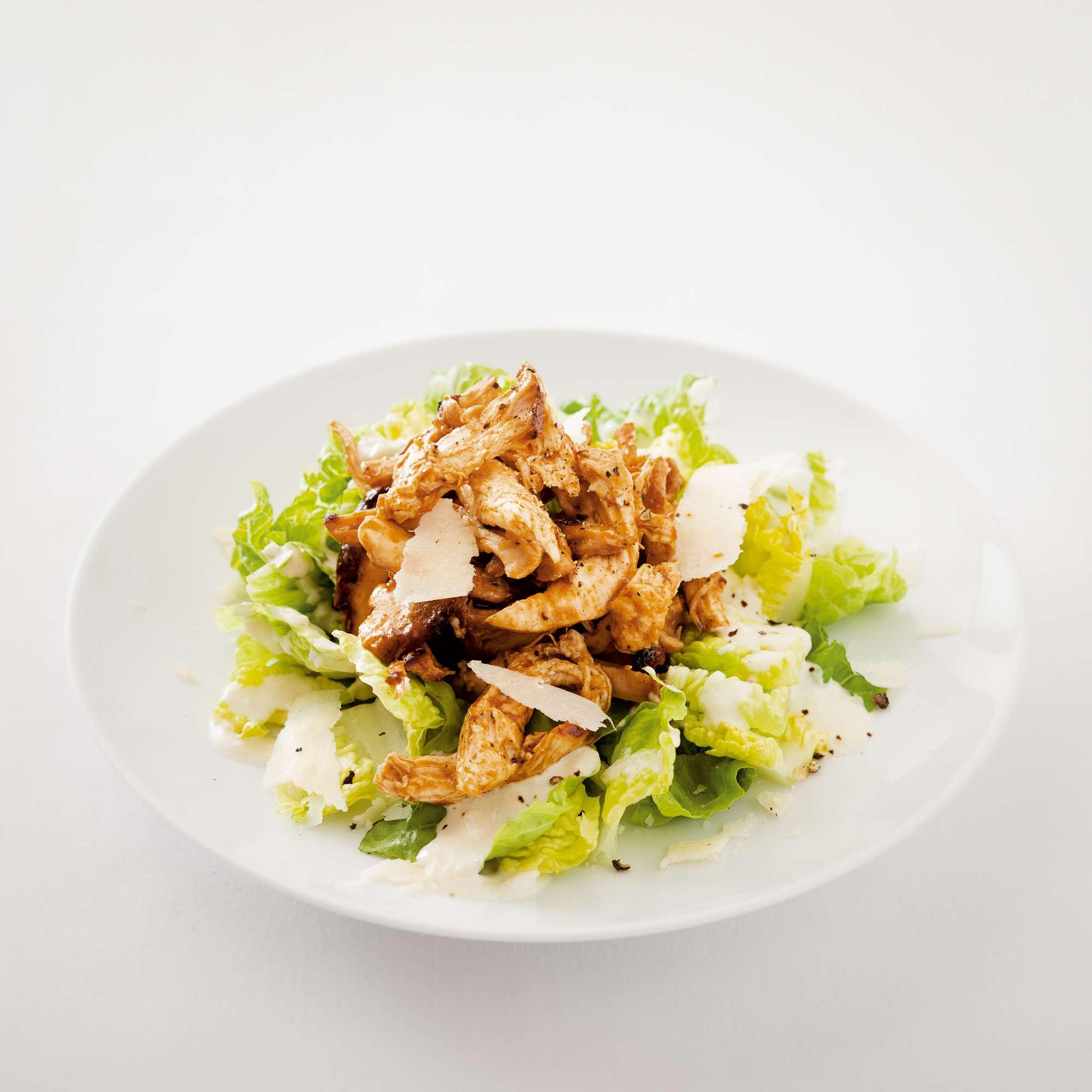 Caesar Salad mit Pulled Chicken, Foto: © Andrea Thode/Effilee