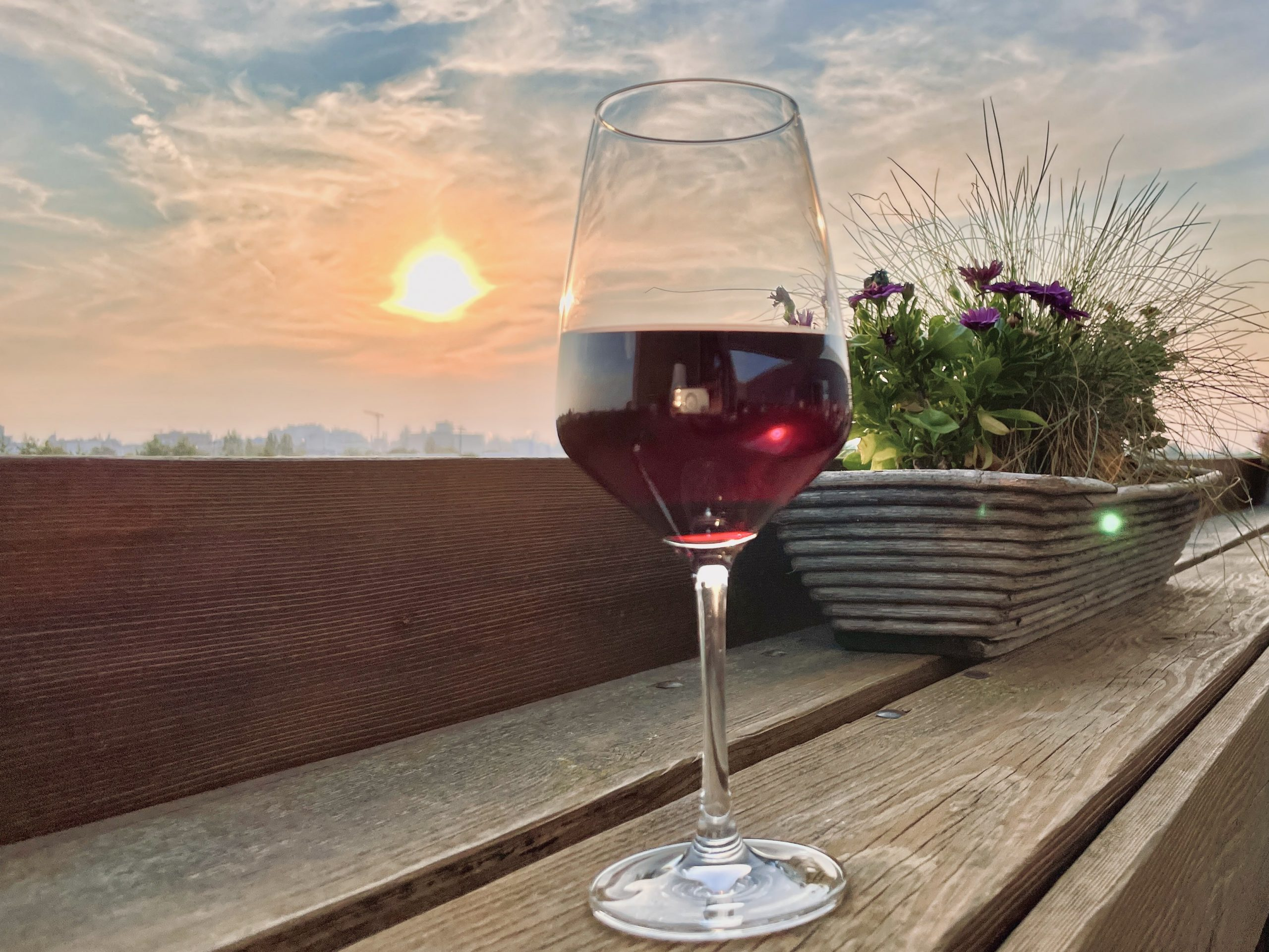 Weingenuss mit Hafenflair über den Dächern von Mannheim